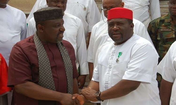 •Governor Okorocha and his Deputy, Madumere