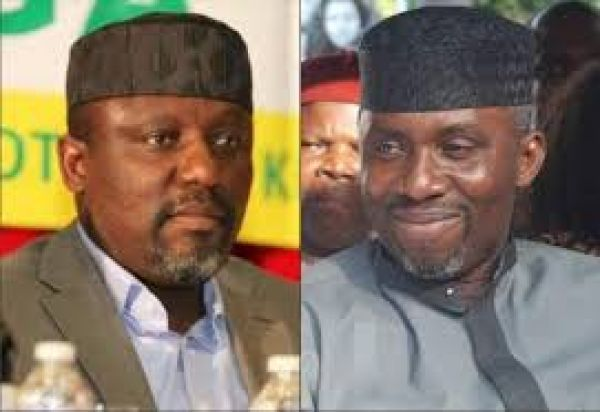 •Governor Okorocha and son-in-law Uche Nwosu