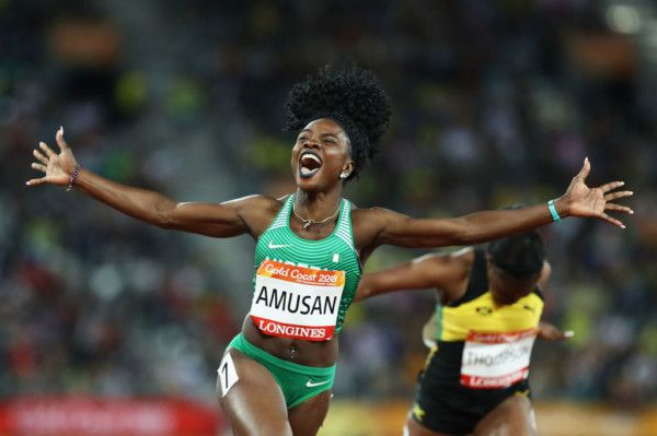 •Commonwealth Games gold medalist Oluwatobiloba Amusan