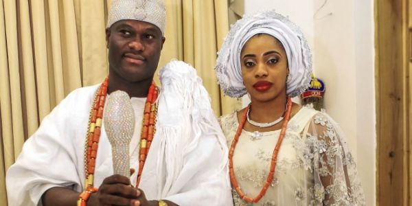 •Oba Adeyeye Ogunwusi 11 and Olori Wuraola when the going was good