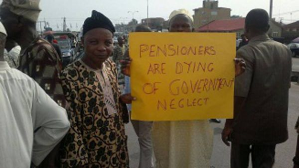 •Osun pensioners during a protest