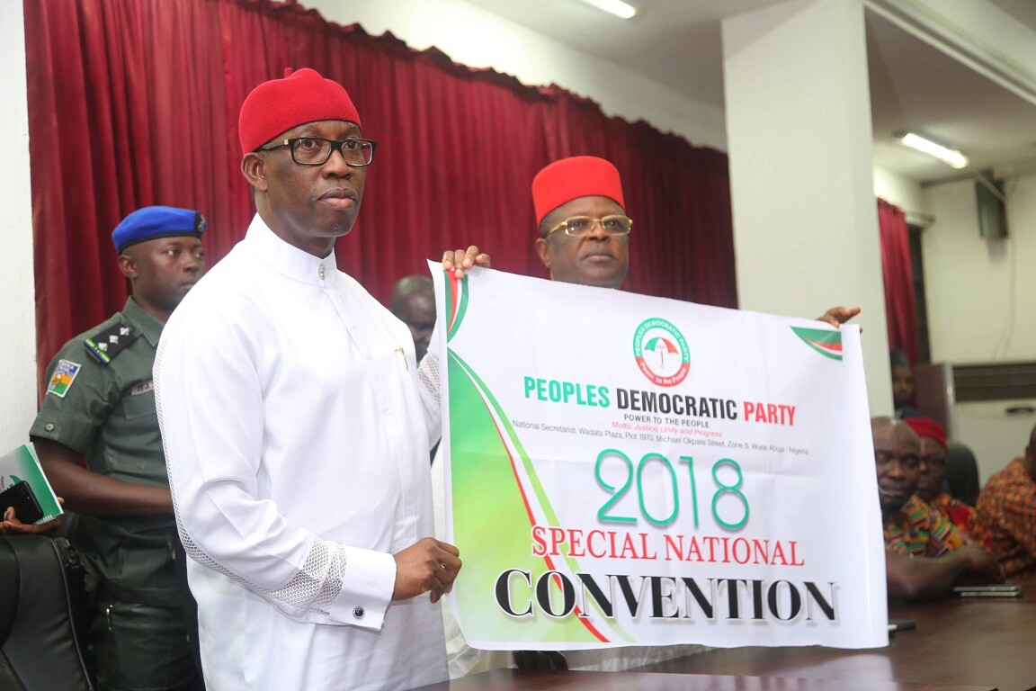 Okowa inaugurated to chair PDP Convention Planning, receives award today in New York