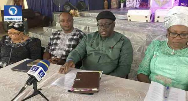 •PFN Vice President South East Cosmas Ilechukwu speaking during the press conference