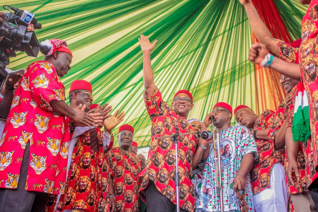 Atiku, Obi, Saraki, Ekweremadu, Secondus, Governors, Ministers storm Owerri as PDP Presidential Campaign train lands in South East