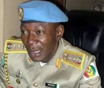 • Dickson Akoh, the National Commandant, Peace Corps of Nigeria