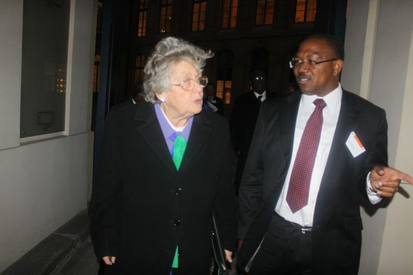 •Ex-Governor Peter Obi with Baroness Lynda Chalker at the British House of Commons on Monday
