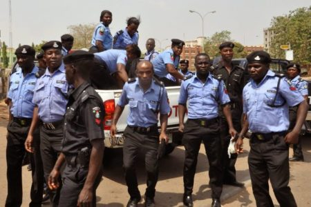 •Men of the Nigerian police