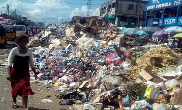 •Heap of refuse in Owerri