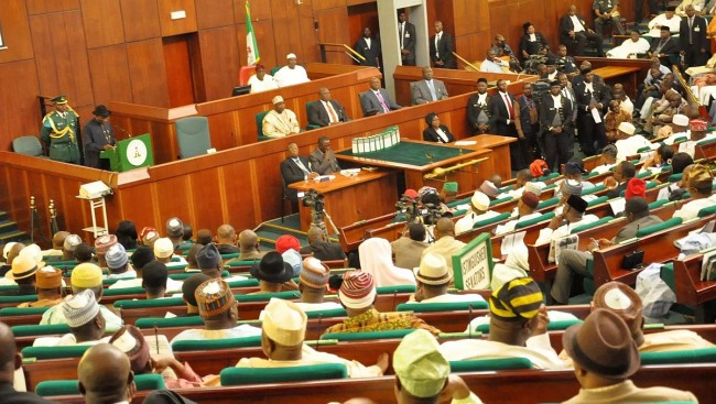 •House of Representatives during their session as 37 members from APC defect