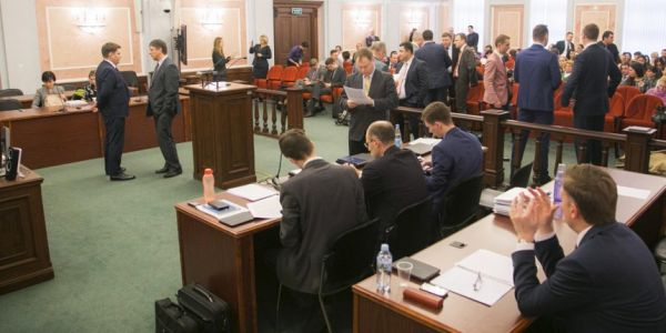 •Inside the Russian Supreme Court during the case. Photo: jw.org.