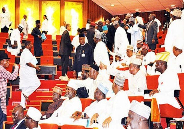 •Rowdy session at the Senate