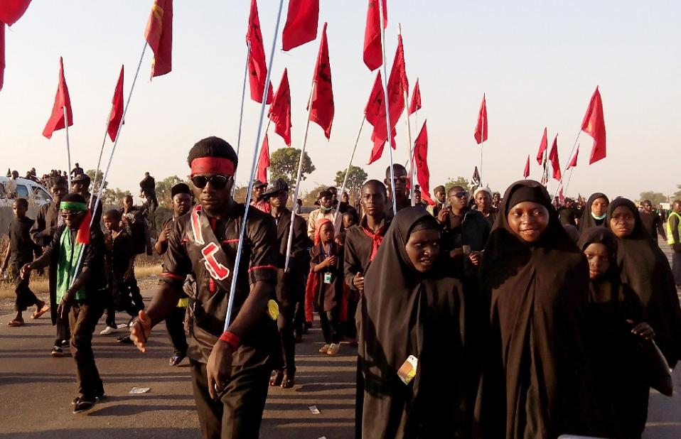 •Nigerian Shiites during a procession