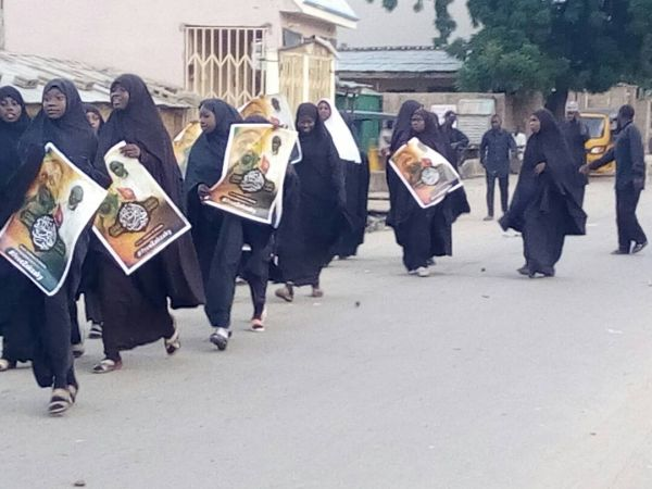 •Nigerian Shiites during a peaceful procession