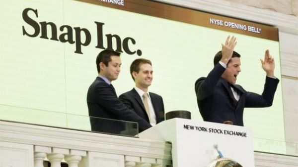 Mad rush for Snapchat shares as it debuts in the stock market