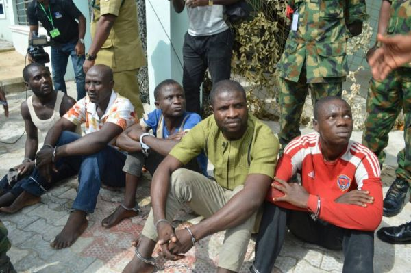 •The suspects as paraded by the JTF.