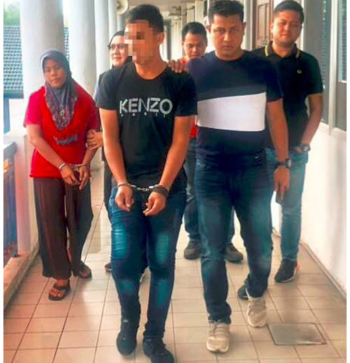•The 21 year-old robbery suspect and his wife turned in by his mother in Malaysia