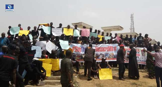 Group protests over attack on Kaduna community