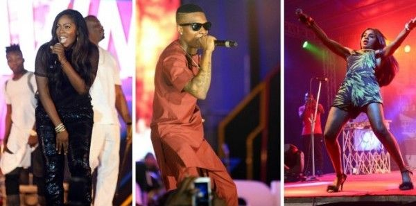 •Artistes thrilling during the 2016 One Lagos Fiesta