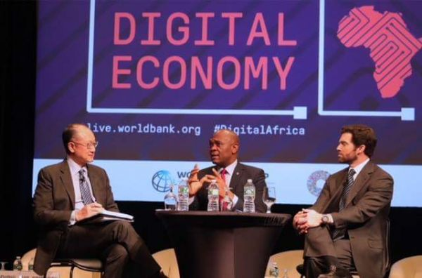 •Tony O. Elumelu speaking recently at the World Bank Spring Meeting in Washington, DC, USA