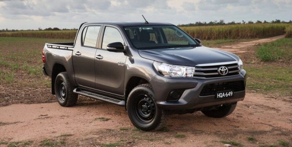•A Toyota Hilux, one of the vehicles seized by the Customs from the Kano senator.