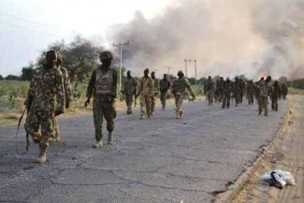 •Nigerian troops on the offensive against Boko Haram.