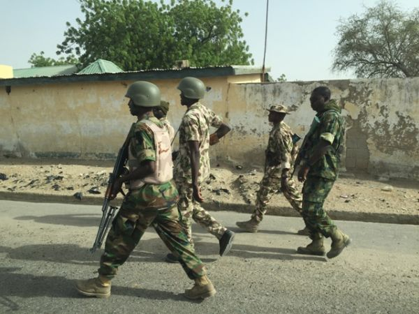 Nigerian troops on counter-insurgency operation in Borno State.
