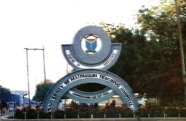•Main gate of University of Maiduguri Teaching Hospital