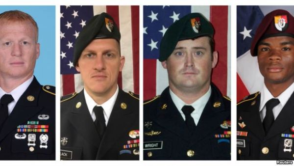 •L to R: Sgt. Bryan Black, Sgt. Dustin Wright; Sgt. La David Johnson and Sergeant Jeremiah Johnson