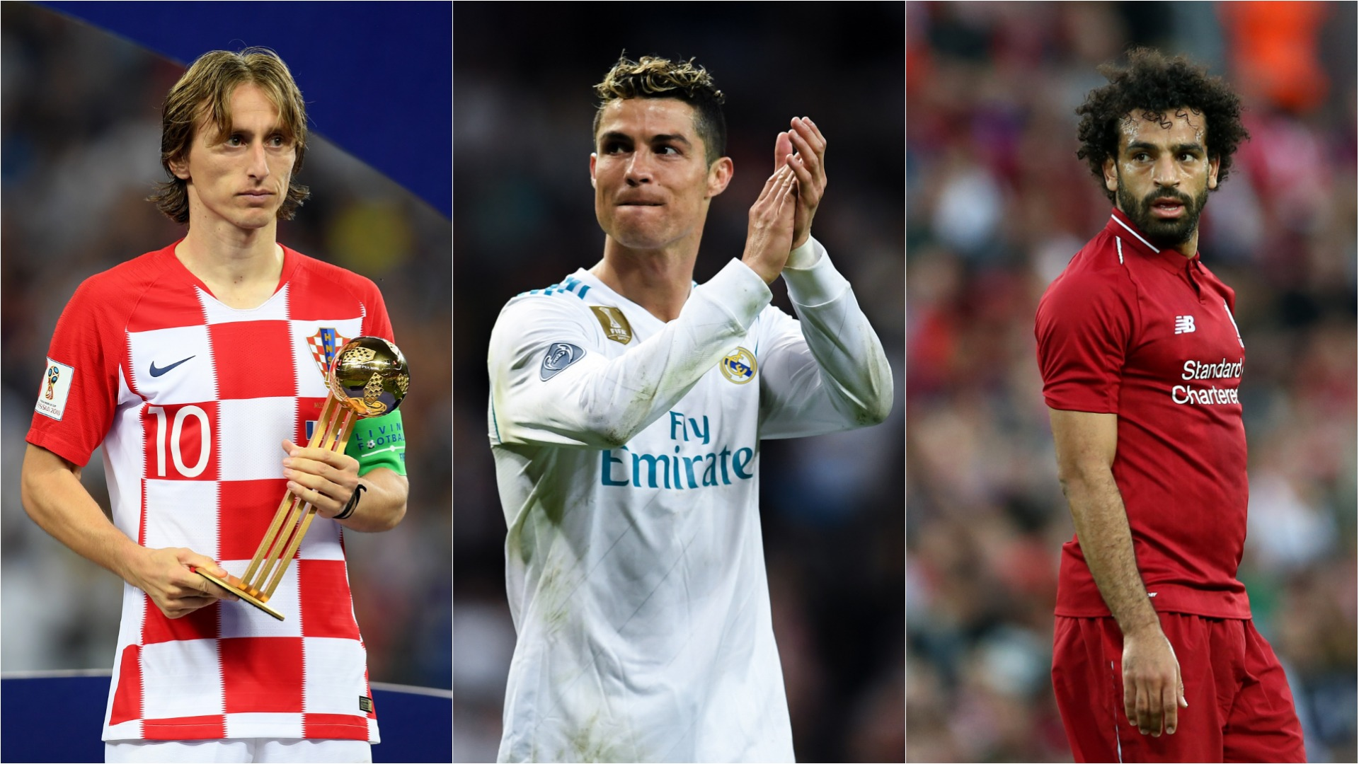 •Ronaldo, Modric, Salah unveiled in FIFA shortlist for World Player of the Year trophy.