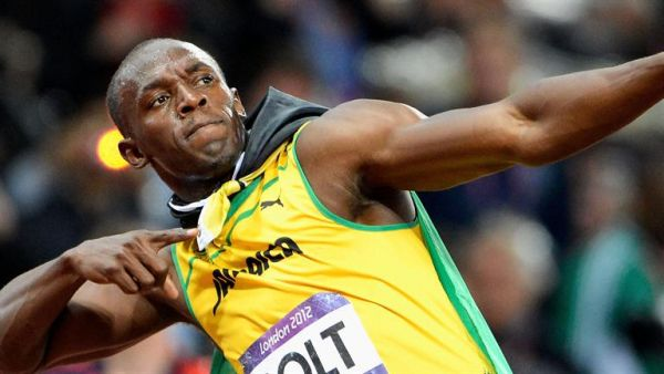 •Athletics legend Usain Bolt.