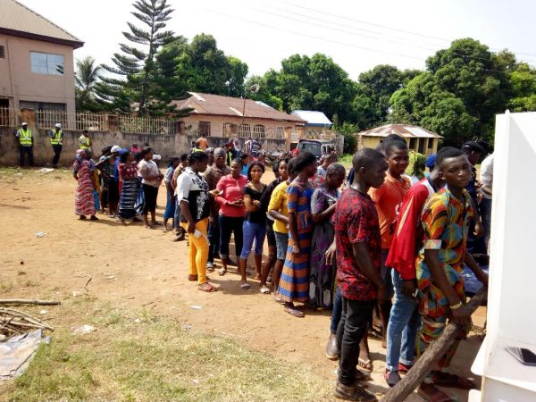 •Voters on the queue during the Nov. 18, 2017 Anambra governorship election