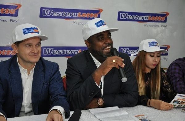 •Western Lotto MD Yomi Ogunfowora speaking during a media briefing