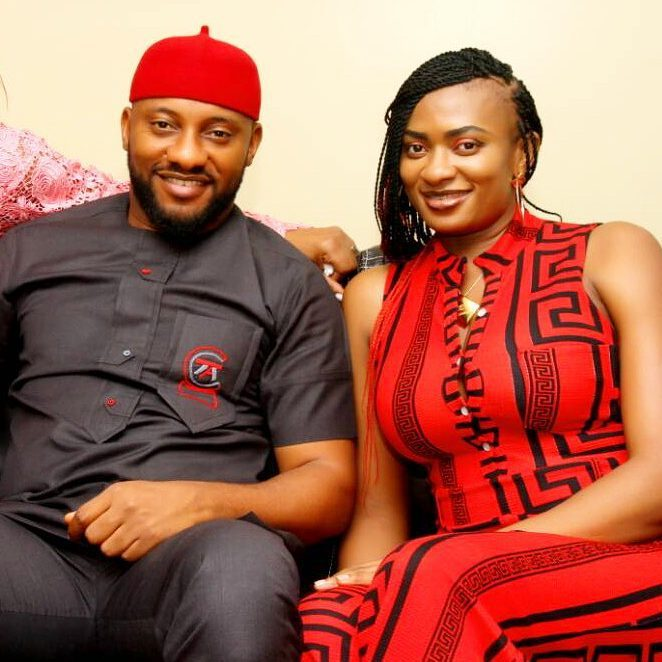 •Nollywood actor Yul Edochie and wife May