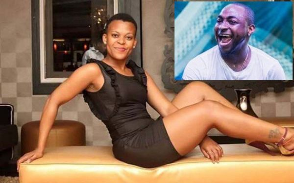 •Zodwa Wabantu, the lady who dances pantless. Inset Davido