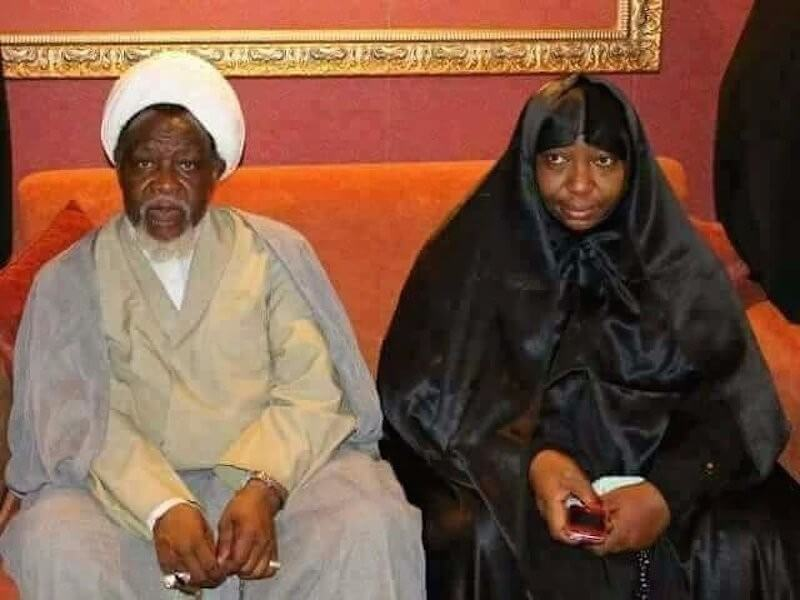•Sheikh El-Zakzaky and wife Zeenat