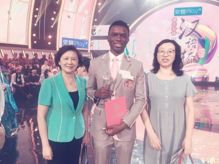 •From the left, Zhan Xin Li, Anthony Ekwensi Middle and Fan Li
