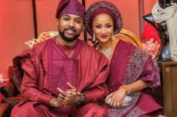 •Banky W and bride-to-be, Adesua Etomi