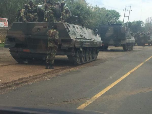 •Zimbabwean military tanks