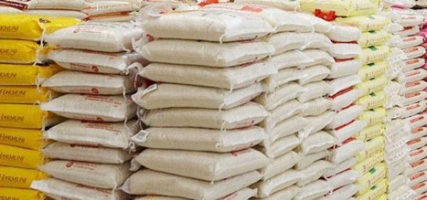 •Bags of local rice