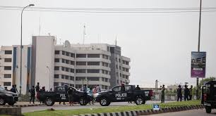 •Police barricading premises of the FCT Court of Appeal . . . on Wednesday