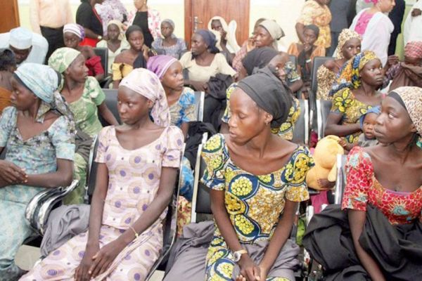 •Chibok girls after their release