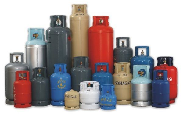 •Cooking gas cylinders.