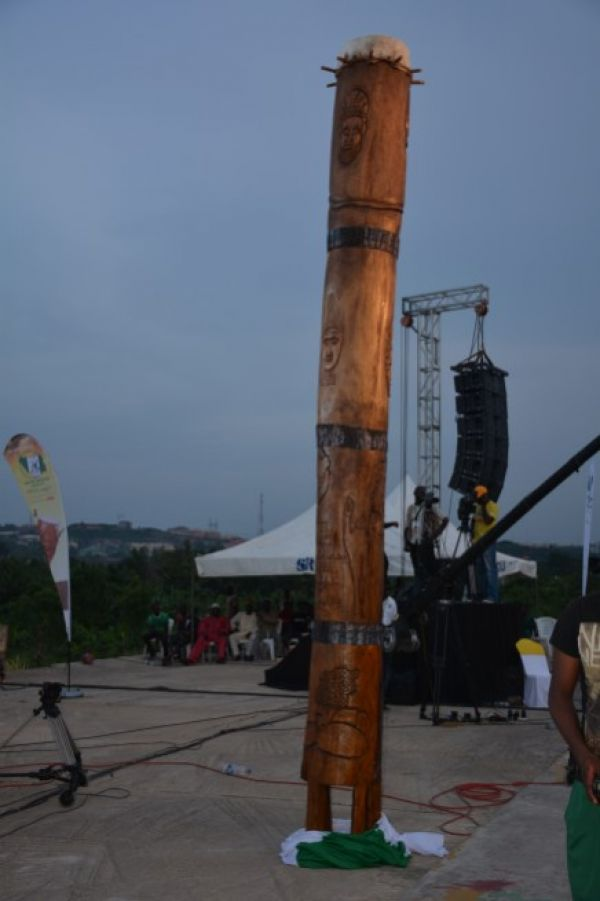 •The world's tallest drum unveiled during the Nigerian Drums Festival in 2016.