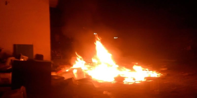 •Ebonyi INEC office set ablaze on election day