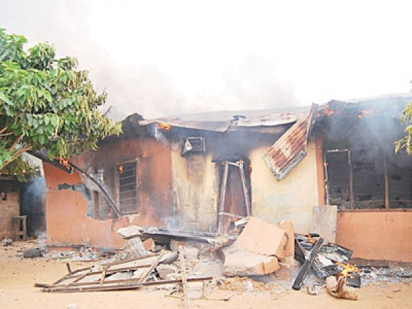 •Aftermath of a devastating attack by Fulani herdsmen in Benue State.