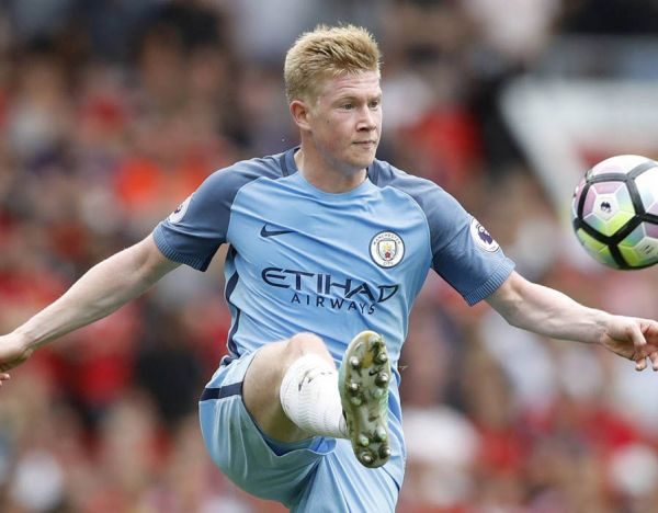 •Man City's sensational midfielder Kevin De Bruyne