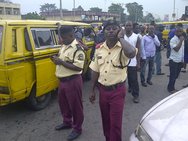 •LASTMA officials at work.