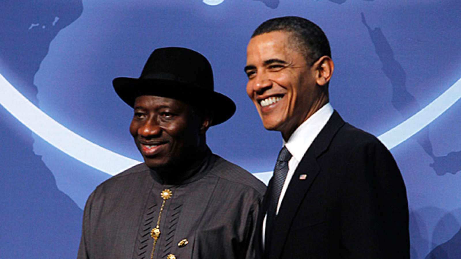•Ex-presidents Jonathan and Obama