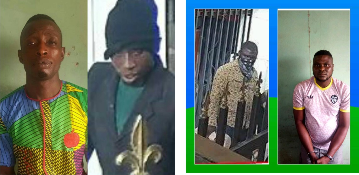 •Two of the arrested Offa robbery suspected kingpins