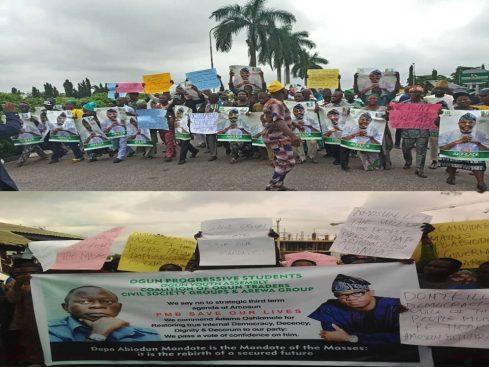 APC crisis: Counter protests in Ogun over Akinlade, Abiodun's